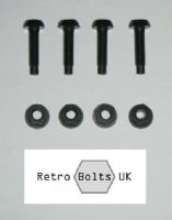 Black Number Plate Plastic Screws & Nuts